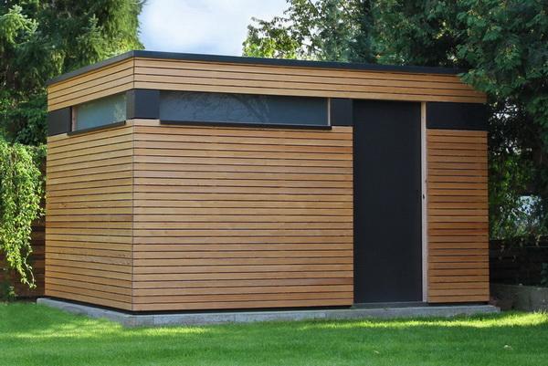 design gartenhaus moderne gartenh user schicke gartensauna bausatz. Black Bedroom Furniture Sets. Home Design Ideas