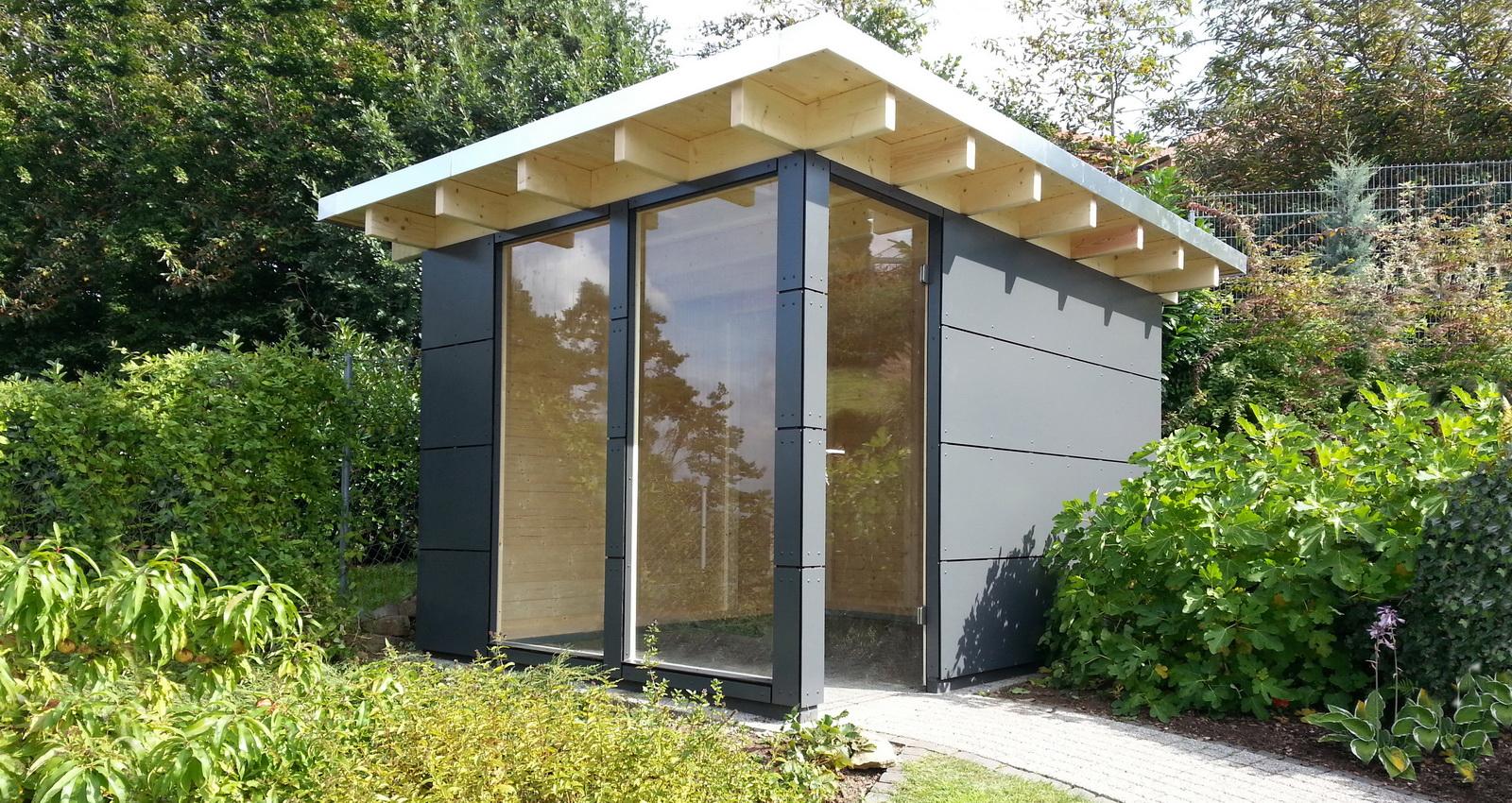 Modernes Gartenhaus design gartenhaus das flachdach gartenhaus gerätehaus