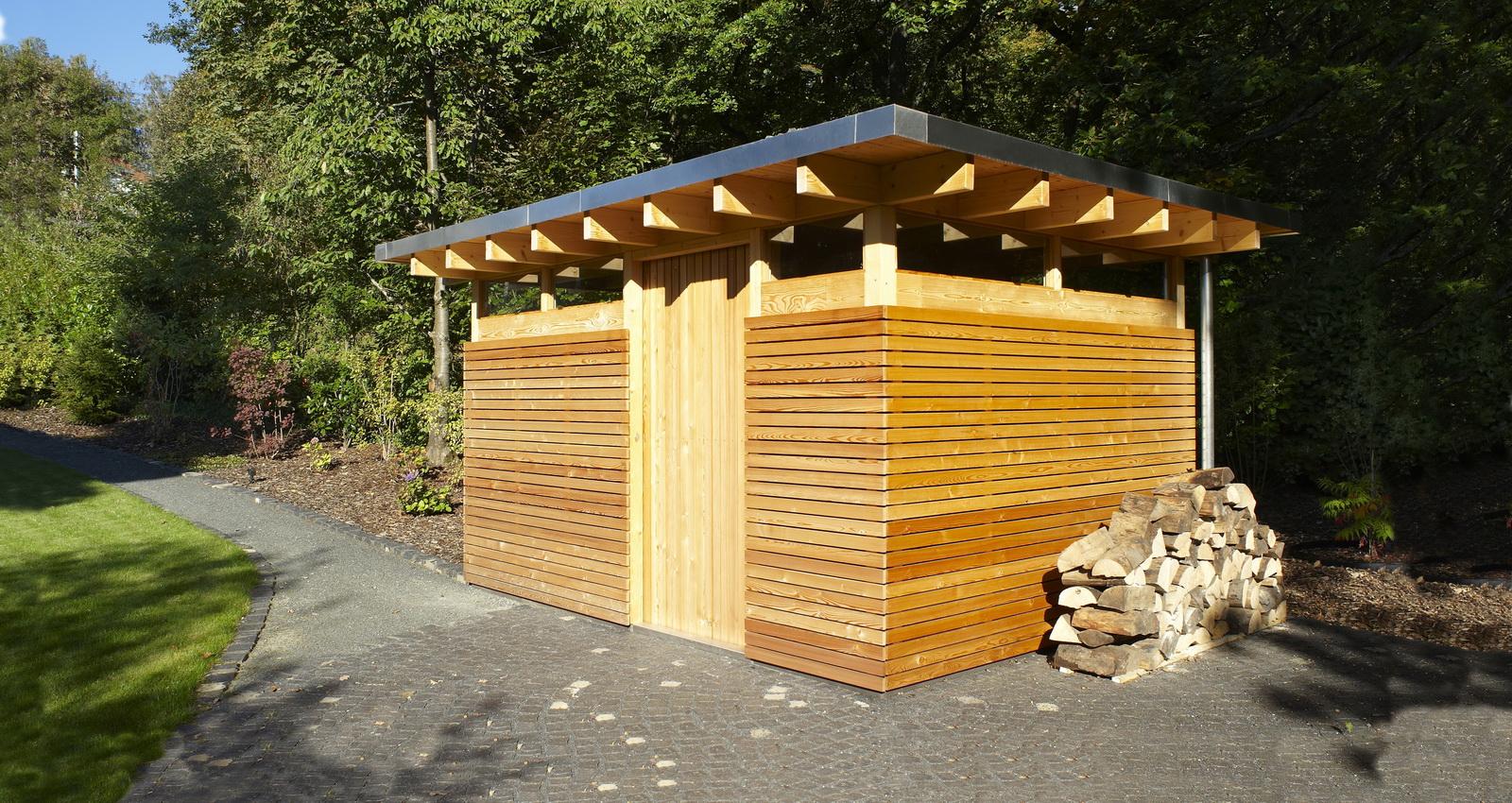 Design Gartenhaus Classic - das Flachdach Gartenhaus/Gerätehaus