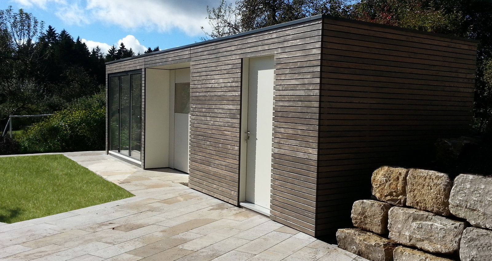 Moderne Design Gartensauna