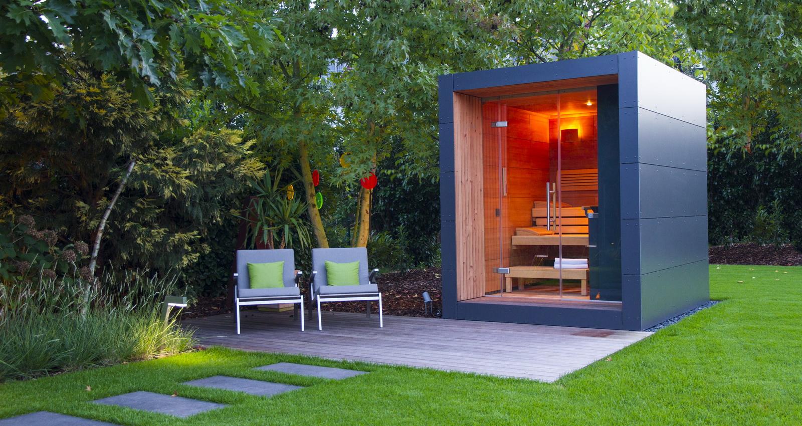 Moderne Design Gartensauna schicke Gartensauna